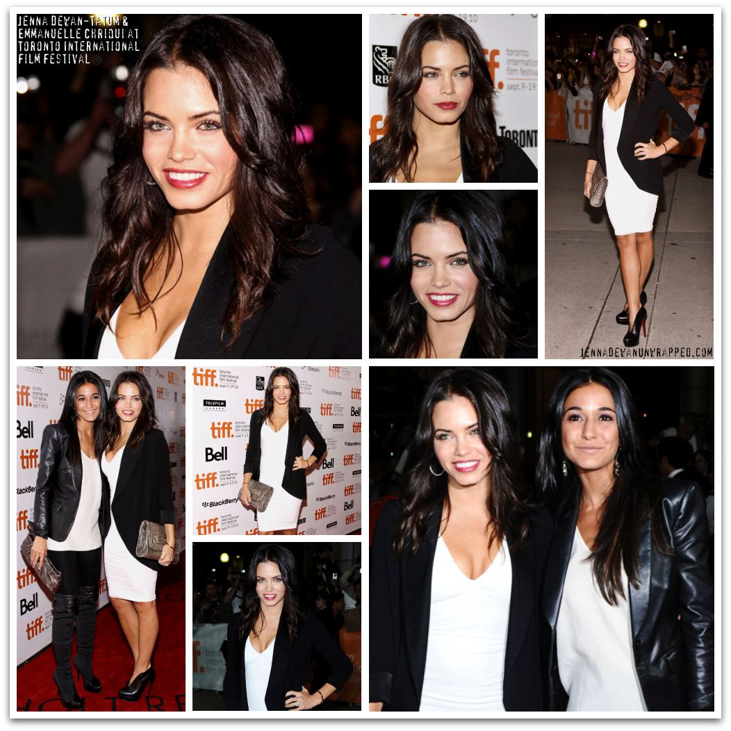 Jenna Dewan-Tatum and Emmanuelle Chriqui at TIFF's 'Black Swan' Premiere