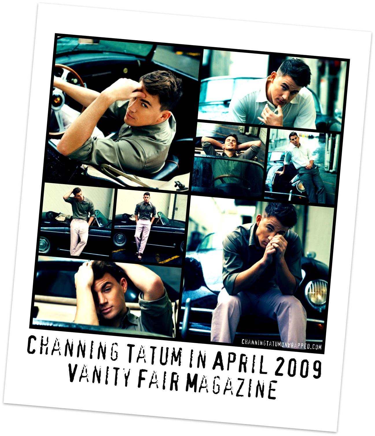 Channing Tatum Featured in April 2009 Vanity Fair