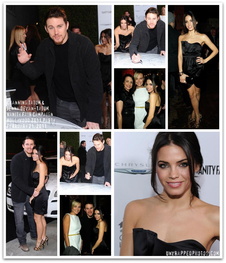 Channing Tatum and Jenna Dewan-Tatum Attend Vanity Fair's Campaign Hollywood 2011 Event