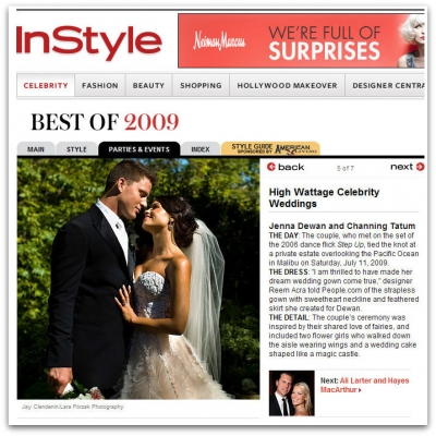 Channing Tatum and Jenna Dewan-Tatum's Wedding Featured in Instyle's Best of 2009